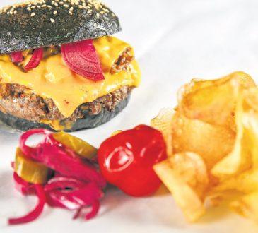 aktif karbonlu hamburger